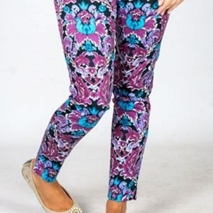 NWT Spring Floral Slim Fitting Chino Pants 10